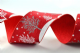 CR Ribbon: Wired Edge Woven Ribbon with Trees & Snowflakes 40mm